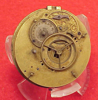Pocket Watch 45mm movement FUSEE NO BRIDGE MILLED EDGE SWISS