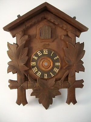 VTG German Black Forest made Schatz 8 Day Cuckoo Clock As-Is Parts project dial