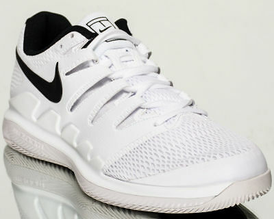 new product f5add 5cdd8 Nike Air Zoom Vapeur X HC Hommes Tennis Chaussures Neuves Blanches Noires  Vaste