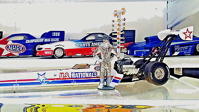 1/24 Drag Racing Top Fuel Dragster Driver Figure Custom Made.