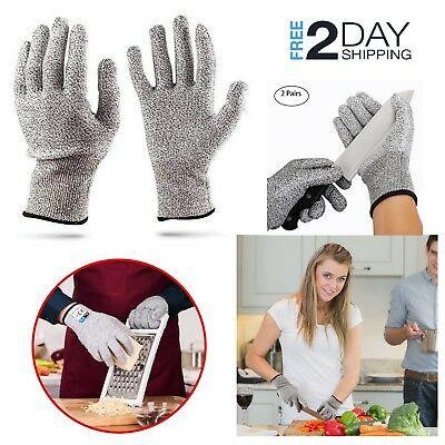 Cut Resistant Butcher Gloves Safety Protection Food Grade Kitchen Wood Carving
