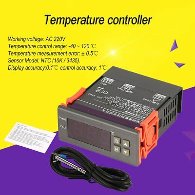 MH1230A AC 220V Dual Output Temperature Controller LCD Display Auto ThermostatMI