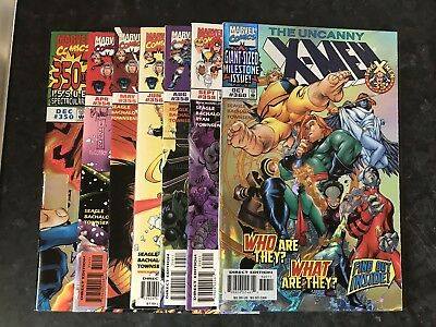 UNCANNY X-MEN 350 360 Plus Others , Key Issues , Foil Issues , Marvel