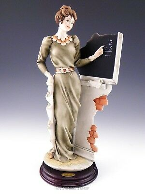 Giuseppe Armani Italy Figurine Sculpture SCHOOL TEACHER LADY #0694-C Mint