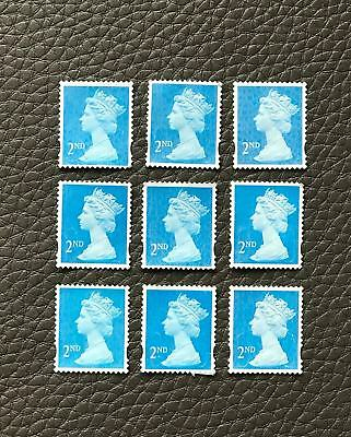 100 x 2nd Class Royal Mail Unfranked Stamps,No Gum ,Off Paper Stamps ,FV £58.00