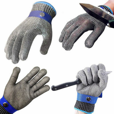 Cut Resistant Safety Gloves Anti-cutting Stainless Steel Wire Metal Mesh Work UK