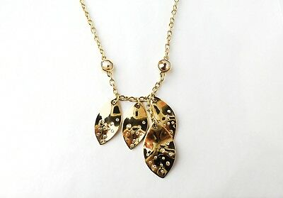 St. John | Gold- Tone Chain Leaf Necklace