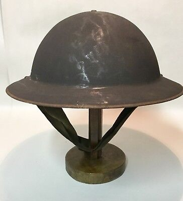 Original army militaire doughboy helmet with original liner and strap WOI WOII?
