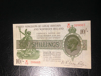 Great Britain banknote 10 Shilling 1928 XF AU !!!!!!