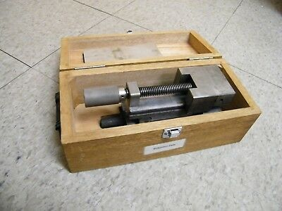 Mitutoyo Sine Vise Model 986-121 angle inspection machinist w/ wooden box