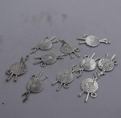 20 pcs Antique Silver Plated Alloy Sword Charm Pendant Crafts 36x16mm 52390