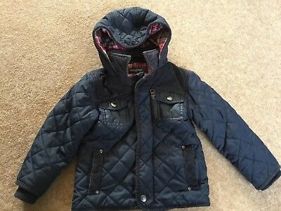 M&S Autograpgh Age 1 1/2 - 2 Years Navy Quited  Hodded Coat