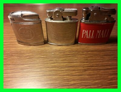 Job Lot 3 Vintage Lighters Hadson-Lucky Strike-Pall Mall Collectibles JAPAN OLD