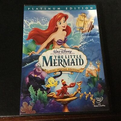 Disney Platinum Special Edition THE LITTLE MERMAID animated DVD - 2 disc set