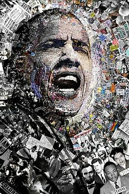 """""""I Am Not A Perfect Man"""" 27x39"""" Civil Rights Protest Barack Obama Poster Signed"""