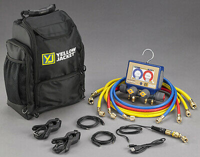 Yellow Jacket 40870 P51-870 Titan Digital Manifold with Hoses and Backpack