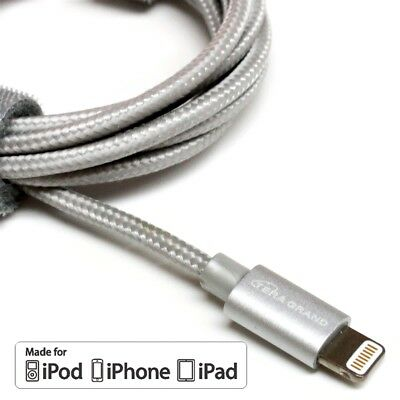 Extra Long Heavy Duty Braided Lightning Charger Cable For iPhone  6 7 8 iPad Air