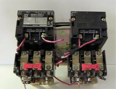 Square D 8810SBO2 Two Speed Magnetic Starter. Used.