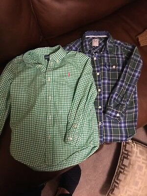 Boys Crew and Ralph Lauren bundle age 7-8 years shirts.