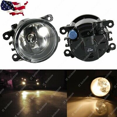 One Set for Acura Honda Ford Nissan Fog Light Lamps with H11 Bulbs Assemblies
