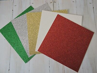 Christmas Glitter Paper -- Traditional Colours