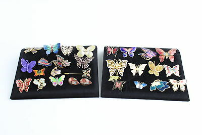 25 x Vintage & Retro BUTTERFLY JEWELLERY inc. Cloissone, Enamel, Brooches