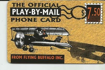 Flying Buffalo  Play-By-Mail  $7.50 Phone Card -