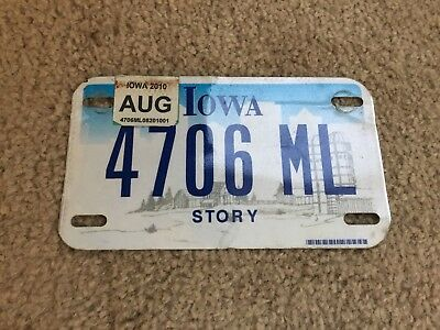 Iowa Motorcycle License Plate