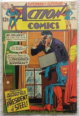 Action comics #371 (1st series ) 1968 FN- condition. 48 year old classic.