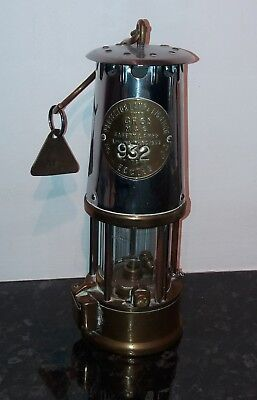 VINTAGE BRASS & STEEL MINERS LAMPS . 4 of . ECCLES PROTECTOR LAMP TYPE 6 GR6S