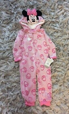 Brand New Girls Minnie Mouse Pyjamas Size 18-24 Months
