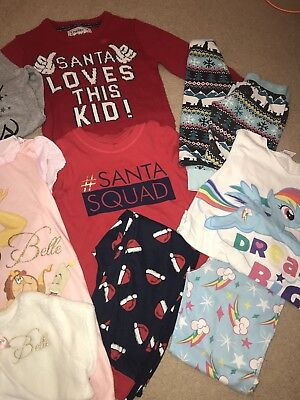 Girls 10 Piece Age 4-5 Pyjama/ Christmas Bundle