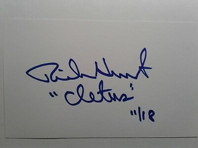 Rick Hurst as CLETUS Hand Signed Autograph 3X5 INDEX CARD  - Dukes of Hazzard
