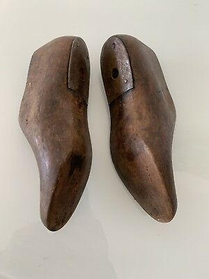A Pair of Vintage Wooden Shoe Lasts Mexican with Metal Heels