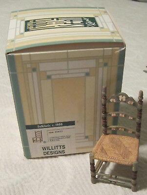 Take a Seat By Raine Willitts, Folkloric c1900 Mini Dollhouse Chair, No.24022
