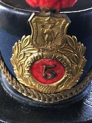 Original Condition - Pattern 1864 Light Artillery Cap - 5TH Mass. Volun Militia