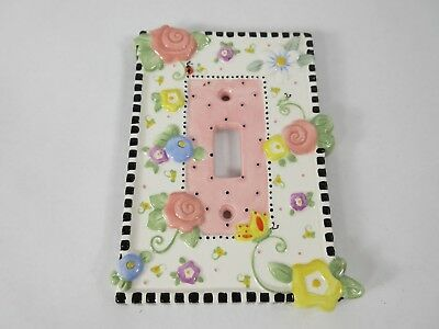 Mary Engelbreit -Tile Light Switch Wall Plate Cover MEADOW HOSTESS Vintage