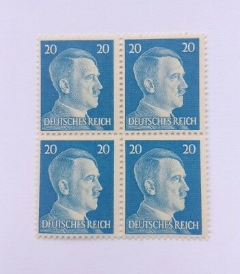 Rare Nazi Germany ww2 Hitler stamps, third reich, mint condition mnh block of 4