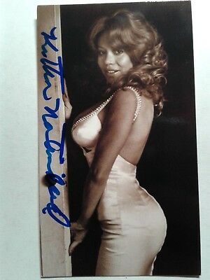 Kitten Natividad Authentic Hand Signed Autograph  BUSINESS CARD - VERY RARE