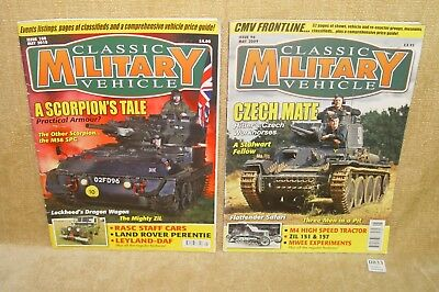 2x CLASSIC MILITARY VEHICLE MAGAZINE ISSUE 96 MAY 2009 & ISSUE 108 MAY 2010 USED
