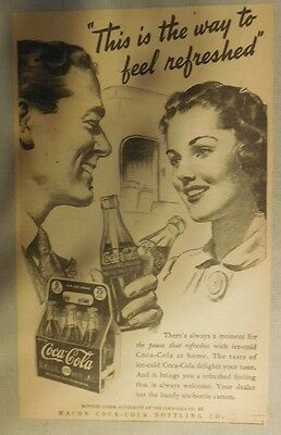 """Coca-Cola ad: """"The Way To Feel Refreshed"""" 1930's ~ 6.5 x 9 inches 1930's"""