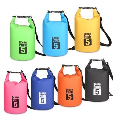 5L Foldable Waterproof Hiking Beach Outdoor Sport Cross Body Swimming Travel Bag
