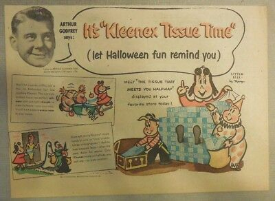 Kleenex Tissue Ad: Little Lulu by Marge' from 1930's - 50's 7 x 10 inches