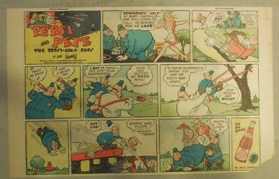 Pepsi and Pete The Pepsi-Cola Cops! from 1940's 8.5 x 10 inches by Rube Goldberg
