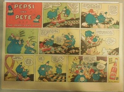 Pepsi and Pete The Pepsi-Cola Cops! from 1940's  11  x 15 inches by Stan Randall