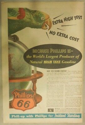 """Phillips 66 Gas Ad: """"High Test Gasoline"""" ! from 1937 Size: 11 x 15 inches"""