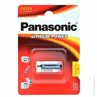 2 Pile Panasonic CR123A . CR17345 Professional Photo Lithium 3.0 V date:01/2027
