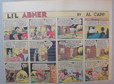 (44) Lil Abner Sunday Pages by Al Capp from 1939 Half Page Size!