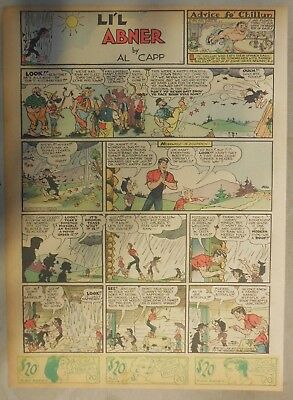 (39) Lil Abner Sunday Pages by Al Capp from 1940 Tabloid Page Size!