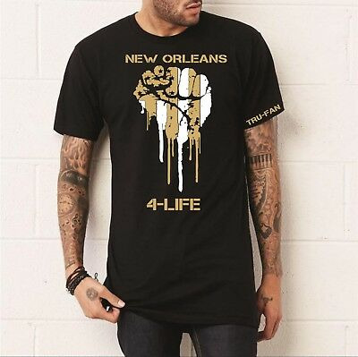 NEW ORLEANS SAINTS inspired 4 LIFE T-shirt Free shipping!!!